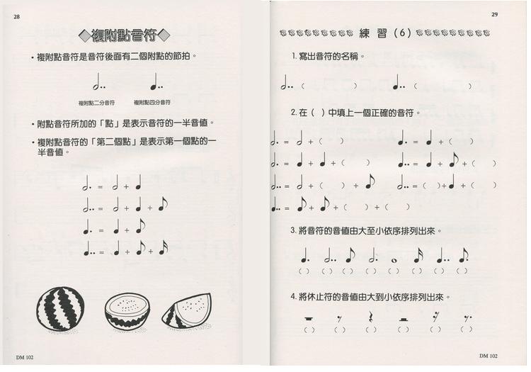 本套書是以兒童為對象的樂理學習教本,在兒童學習音樂過程中所遇到的樂理問題,及其所有必須學習的樂理問題,及其所有必須學習的,均全收集在此套4冊書裡。 音符的寫法、音階和調子的組成、各種音樂符號的意義,及深入的音樂表情等等都是必要提供給學習鋼琴、小提琴、長笛及各種樂器的兒童們學習音樂的活用教材。